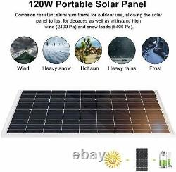 12V Solar Water Pump System Kit100W Solar Panel & 20A Controller for Washing UK