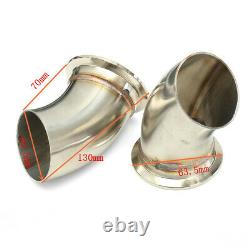 2.5'' 63mm Dual Exhaust Cut Off Downpipe Cutout Valve System Electric Control