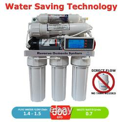 600 GPD Direct Flow Reverse Osmosis Pumped System LCD controller, Auto Flush