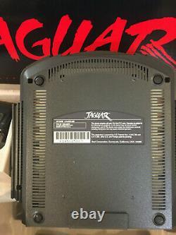 Atari JAGUAR SYSTEM CONSOLE (NTSC) J8001 NEW withEXTRA Controller/Cannon Fodder