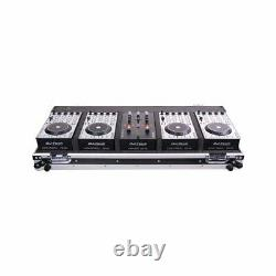 DJ-Tech Hybrid 101 DJ Controller 4-Deck MIDI DJ Controller System with Case