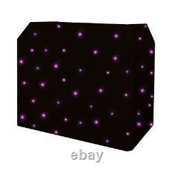 Equinox DJ Booth Quad LED DJ Disco Starcloth System Black Cloth & DMX Controller