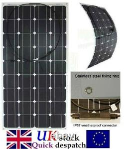 Flexible 150w 100w 120w 50w 30w PV Solar Panel for 12v or 24v Battery System UK