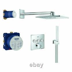Grohe SmartControl Duschsystem Unterputz Komplettset mit Kopfbrause, Thermostat