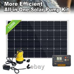 Hot Solar Water Pump System Kit with120W Solar Panel & 20A Controller for Watering