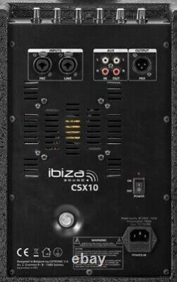Ibiza CSX10 Compact aktiv 10 Säulensystem PA Anlage Bluetooth DJ Band 400W NEU