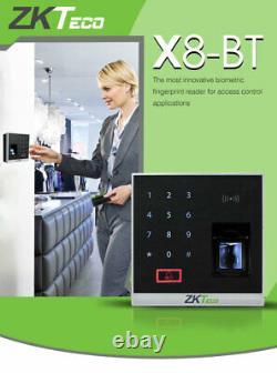 Kit Door Access Control System Biometric Fingerprint zkteco, 600lb ZK x8 Entry