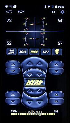 Level Ride Bluetooth Air Ride Suspension 4-corner Controller 3 Preset Pressures