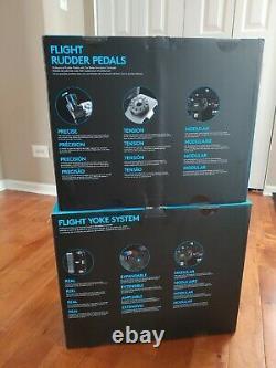 Logitech G Pro Throttle Yoke and Rudder Pedals System Quadrant Microsoft Flight