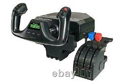 Logitech G Saitek Pro Flight Yoke System Flight Simulator Throttle Quadrant New