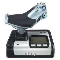 Logitech G Saitek X52 Flight Control System Illuminated Buttons and LCD Display