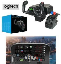 Logitech Saitek PRO Flight Simulator Yoke System Plane Simulation Lever Controls