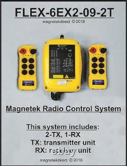 Magnetek FLEX-6EX2-09-2T New Overhead Crane Hoist Radio Remote Control System