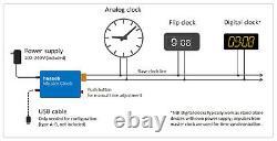 Master clock system controller, slave clock impulser driver
