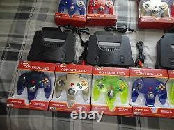 N64 system Nintendo 64 Console with 2 new Controllers (TIGHT STICKS) + av cords