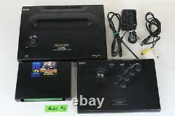NEO GEO pro-pow 3 AES ROM Console System Japan tested working Controller Q6C