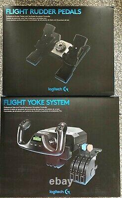 New Logitech G Saitek Pro Flight Yoke System And Rudder Pedals Flight Simulator