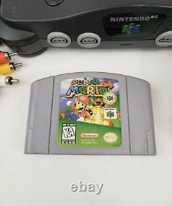 Nintendo 64 N64 System / Console Bundle + Cables + 2 Controller + Super Mario 64