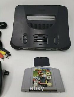Nintendo 64, N64 System / Console Bundle + Cables + 2 Controllers +Mario Kart 64