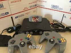 Nintendo 64, N64 System / Console Bundle + Cables + 2 Controllers+ Mario Party
