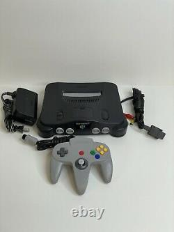 Nintendo 64 N64 System Console & Cables Controller Tested & Cleaned