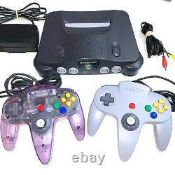 Nintendo 64 N64 System Console With 2 OEM Controllers Authentic & Clean