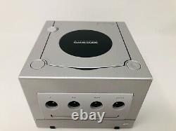 Nintendo Gamecube Platinum Game Console Silver System Bundle 2 NEW Controllers