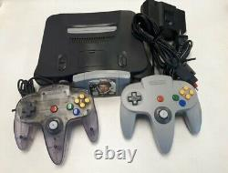 Nintendo N64 System Console Bundle + Cables + 2 Controllers + Golden Eye 007