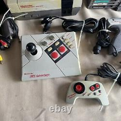 Nintendo NES System Console Lot 26 Games 1 Gun 4 Controllers and Cables