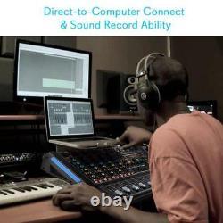 Pyle PMXU128BT Bluetooth 12 Ch. Studio DJ Controller Audio Mixer Console System