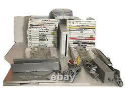 SAME DAY SHIPPING Nintendo Wii System Console 2 Sets Of Controllers GAMES+EXTRA