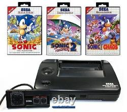 ## SEGA Master System 2 + Controller + 3 Sonic Spiele (1, 2, Chaos) TOP ##