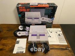 SNES Super Nintendo Entertainment System Control Set Console All Original Tested