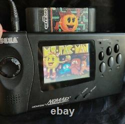Sega Genesis Nomad System power adapter, controller and 5 games