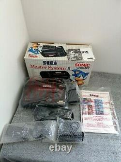 Sega Master System 2 Console Boxed 2 Controllers Sonic + 4 Game Bundle