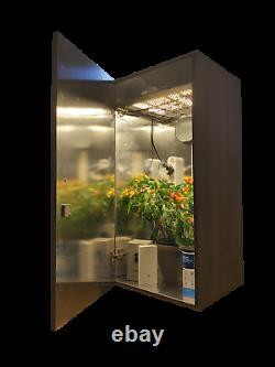 Smart Stealth Grow Box System Led 600w Plant Sensors & Lights Remote Control