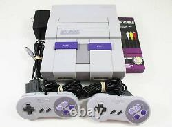 Super Nintendo SNES System Console With 2 Controllers