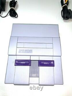Super Nintendo SNES System Console With 2 OEM Controllers Authentic & Clean