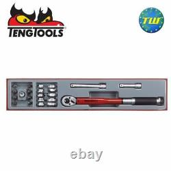 Teng 22pc 3/8 Torque & Crow Foot Wrench Set TTX3892 Tool Control System