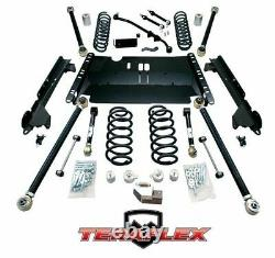 TeraFlex 4 Enduro LCG Long Arm Lift Kit 8 FlexArms For 97-06 Jeep Wrangler TJ