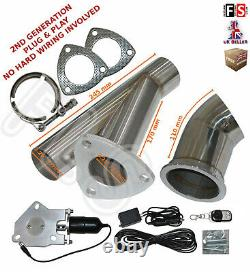 Universal Fit Powered Exhaust Cut Off Valve Kit 2.25 Electric Control System