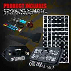 Xprite 8 Switch Rocker Panel Control System for Universal UTV ATV JEEP 4WD 12V